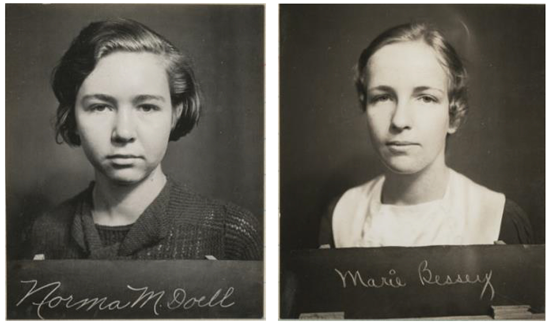 Photos of Norma Doell and Marie Bessey.